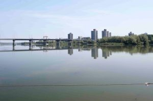 Brücke über den Dnjestr nach Ribniza